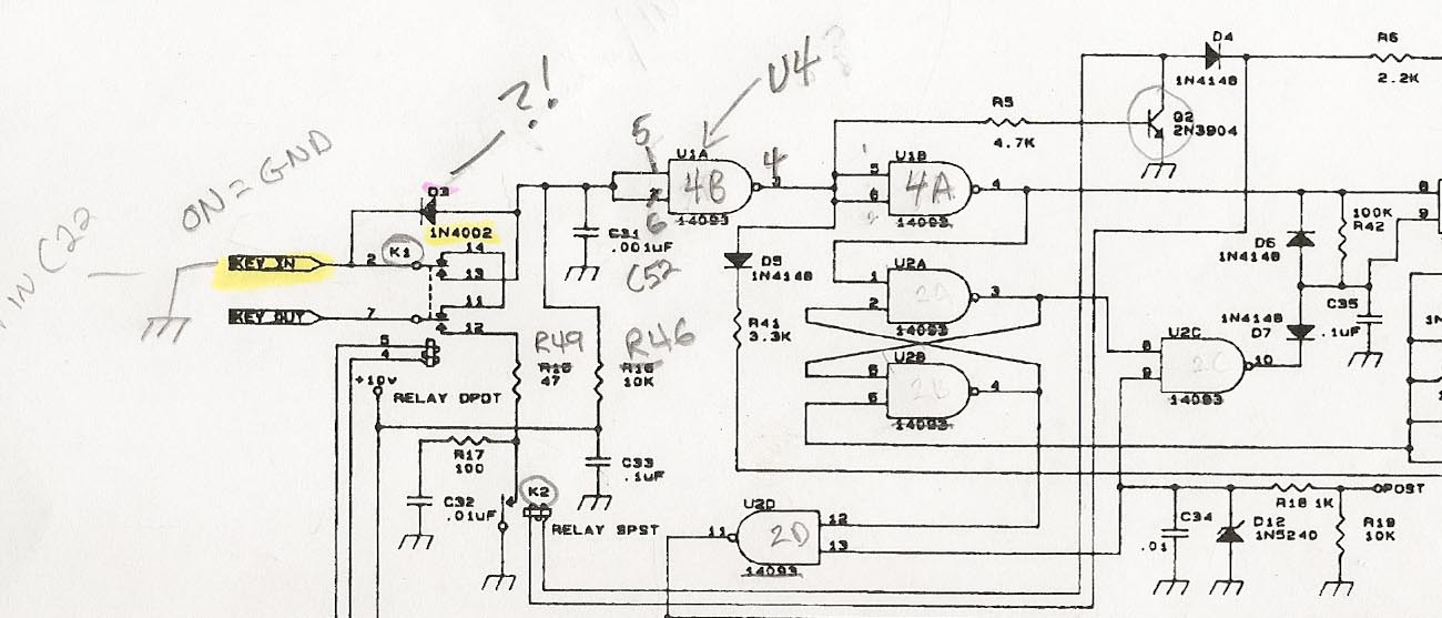 see the rev e schem below: (note my penciled in changes to match my rev b  board)